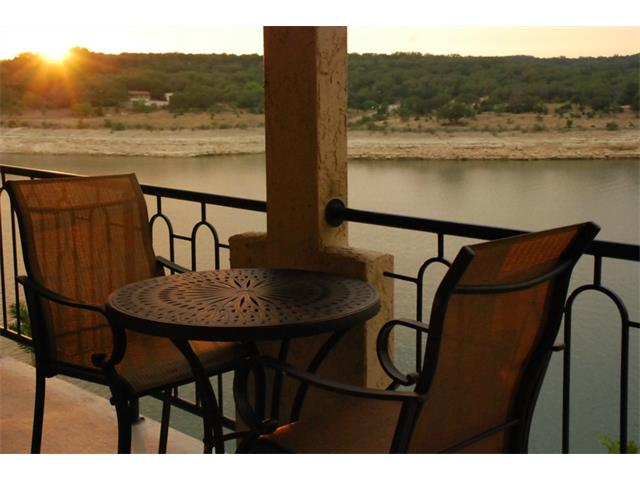 Water front view at the Islands of Lake Travis.